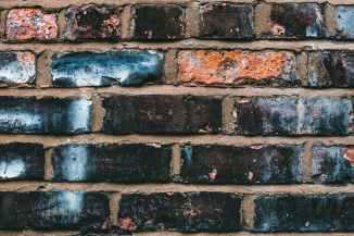 black blue and orange concrete brick